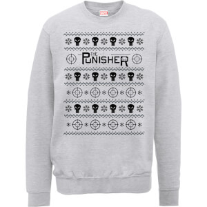 Marvel The Punisher Grey Christmas Sweater