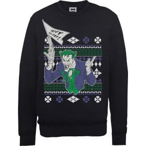 DC Batman Happy Holiday The Joker Black Christmas Sweater