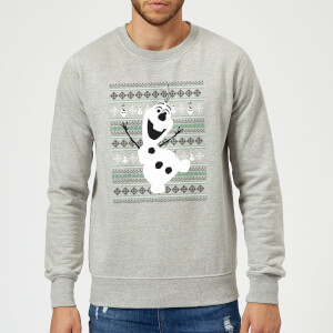 Disney Frozen Christmas Olaf Dancing Grey Christmas Sweatshirt