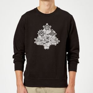 Marvel Comics Marvel Shields Christmas Tree Black Christmas Sweater