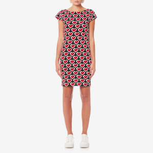 Love Moschino Women's Allover Pixel Heart Dress - Black