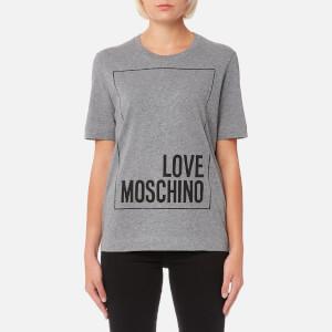 Love Moschino Women's Logo Box T-Shirt - Grey