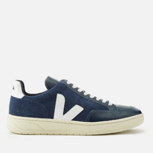 Veja Men's V-12 Suede Trainers - Midnight/White