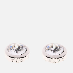 Ted Baker Women's Sinaa Crystal Stud Earrings - Silver/Crystal