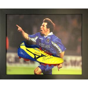Gianfranco Zola Signed Boot in Domed Frame