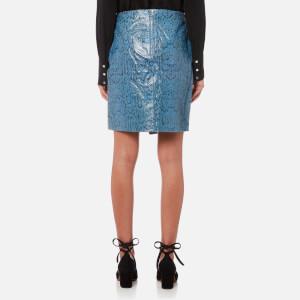 Gestuz Women's Mishael Skirt Snake Print Leather - Grenada Snake: Image 2