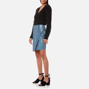 Gestuz Women's Mishael Skirt Snake Print Leather - Grenada Snake: Image 4