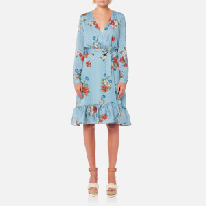 Gestuz Women's Natacha Wrap Dress - Light Blue Floral