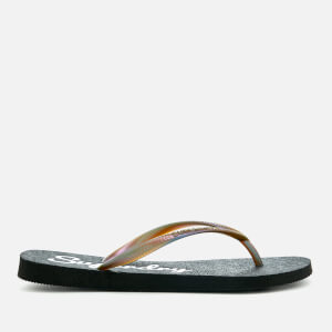 Superdry Women's Super Sleek Flip Flops - Black/Petrol: Image 2