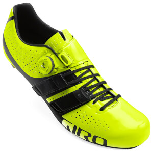Giro Factor Techlace Road Cycling Shoes - Yellow/Black
