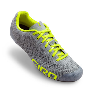 Giro Empire E70 Knit Road Cycling Shoes - Grey Heather/Highlight Yellow