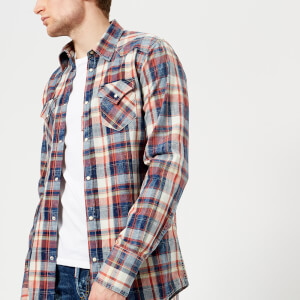 Dsquared2 Men's Checked Western Shirt - Blue/Red