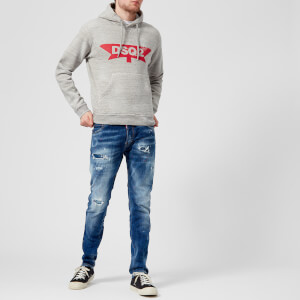 Dsquared2 Men's Dsq2 Logo Dan Fit Hoody - Grey Melange: Image 3