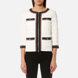 Herno Women's Short Coat with Button Detail - White