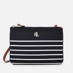 Lauren Ralph Lauren Women's Bainbridge Tara Cross Body Bag - Black/White Stripe