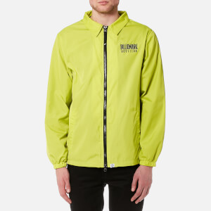 Billionaire Boys Club Men's Zipped Coach Jacket - Cyber Yellow