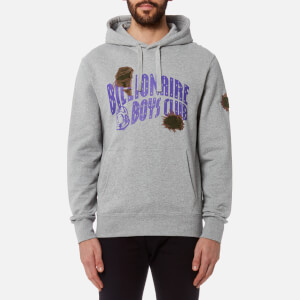Billionaire Boys Club Men's Damaged Logo Popover Hoody - Heather Grey