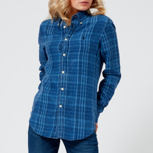 Polo Ralph Lauren Women's Plaid Shirt - Indigo/Navy