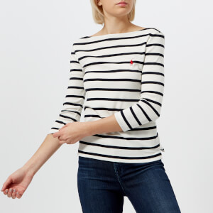 Polo Ralph Lauren Women's Striped Boat Neck T-Shirt - White/Navy
