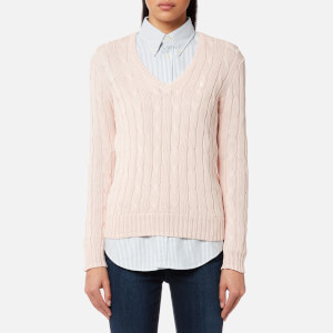 Polo Ralph Lauren Women's Kimberly V Neck Jumper - Pale Pink