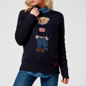 Polo Ralph Lauren Women's Bear Jumper - Navy