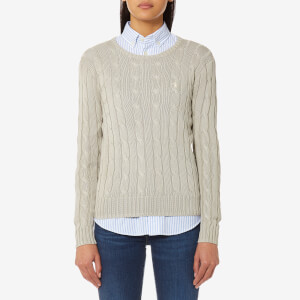 Polo Ralph Lauren Women's Julianna Crew Neck Jumper - Stone Grey