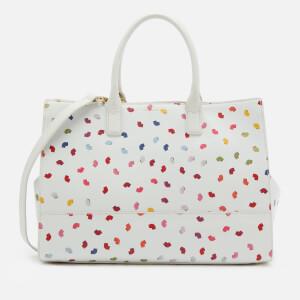 Lulu Guinness Women's Daphne Confetti Lip Print Tote Bag - Pale Grey/Multi