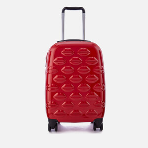 Lulu Guinness Women's Small Lips Hardside Spinner Case - Red