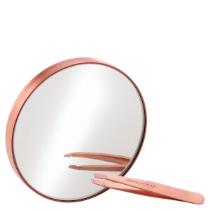 Tweezerman Rose Gold Mini Slant Tweezer and 10x Mirror -pinsetit ja 10x suurentava peili