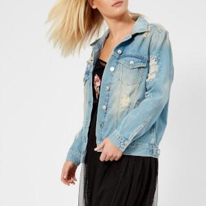 Guess Women's Ellie Jacket - Pearl Age Destroy