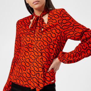 Guess Women's Hazel Top - 60's Vibes Orange