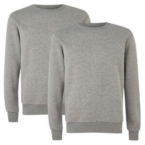 Native Shore Men's Essential 2 Pack Sweatshirt - Light Grey Marl
