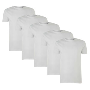 Pack de 5 Camisetas Native Shore Essential - Hombre - Blanco