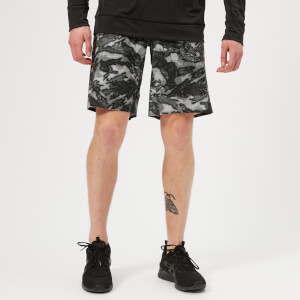 Reebok Men's CrossFit Super Nasty Splash Camo Board Shorts - Black