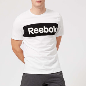 Reebok Men's Brand Graphic Short Sleeve T-Shirt - White