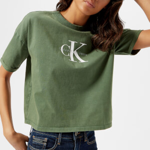Calvin Klein Women's True Icon T-Shirt - Trekking Green