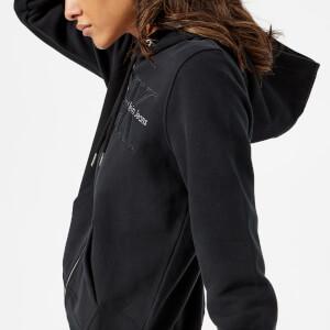 Calvin Klein Women's Holt Hooded Zip Through Top - Black