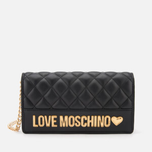 Love Moschino Women's Quilted Chain Cross Body Bag - Black