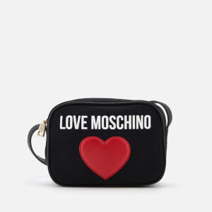 Love Moschino Women's Heart Logo Cross Body Bag - Black