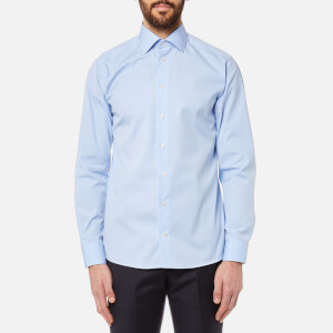 Eton Men's Slim Fit Cut Away Collar Single Cuff Shirt - Sky Blue