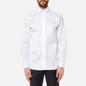 Eton Men's Contemporary Fit Cut Away Collar Single Cuff Shirt - White