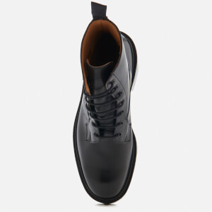 Tricker's Men's Burford Leather Lace Up Boots - Black: Image 3