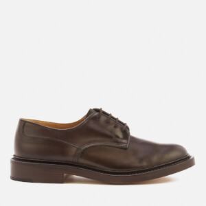 Tricker's Men's Woodstock Leather Derby Shoes - Espresso Burnished