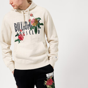 Billionaire Boys Club Men's Embroidered Floral Popover Hoody - Oat Marl