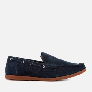 Clarks Men's Morven Sun Suede Slip-On Boat Shoes - Navy