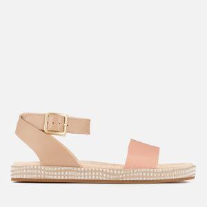 Clarks Women's Botanic Ivy Double Strap Flat Sandals - Sand Combi