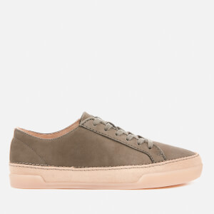 Clarks Women's Hidi Holly Leather Cupsole Trainers - Khaki
