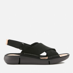 Clarks Women's Tri Chloe Nubuck Cross Strap Sandals - Black