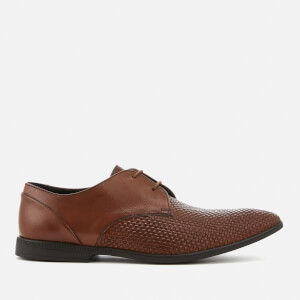 Clarks Men's Bampton Weave Leather Derby Shoes - Tan