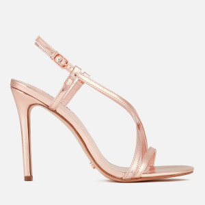 Dune Women's Madeena Strappy Heeled Sandals - Rose Gold